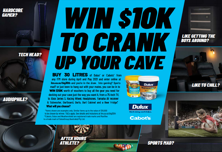 Win 10k To Crank Up Your Cave