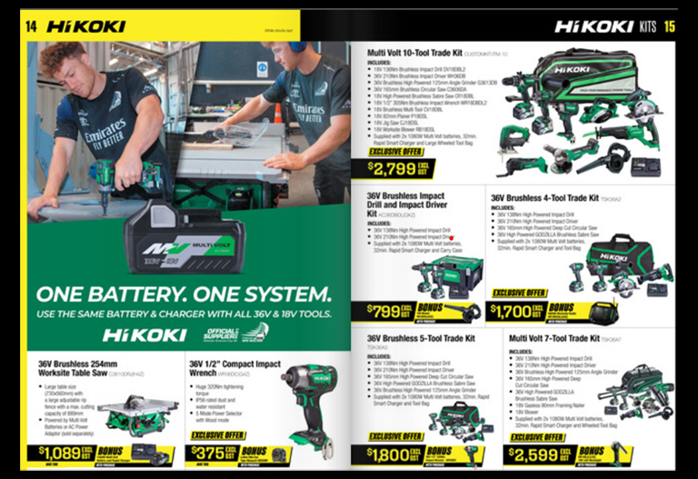 Score Great Deals on HiKOKI Gear