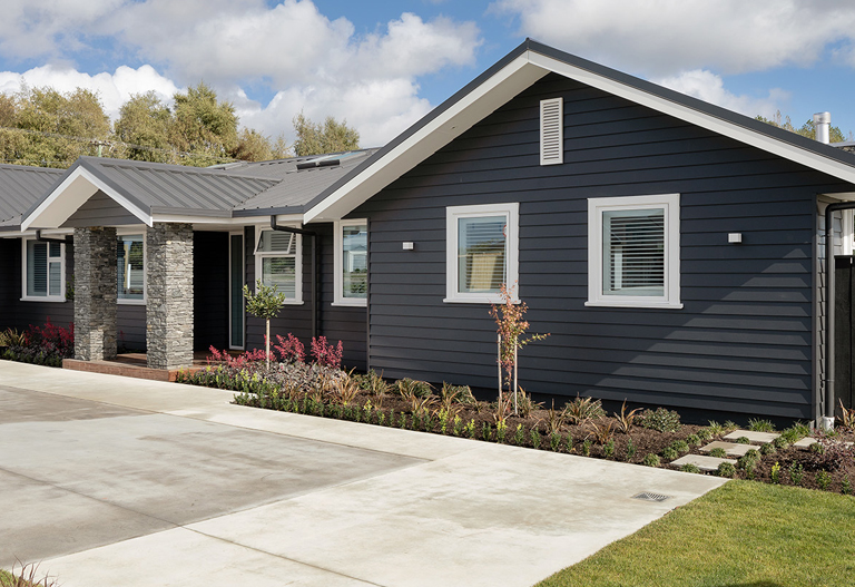 Classic and modern weatherboard cladding