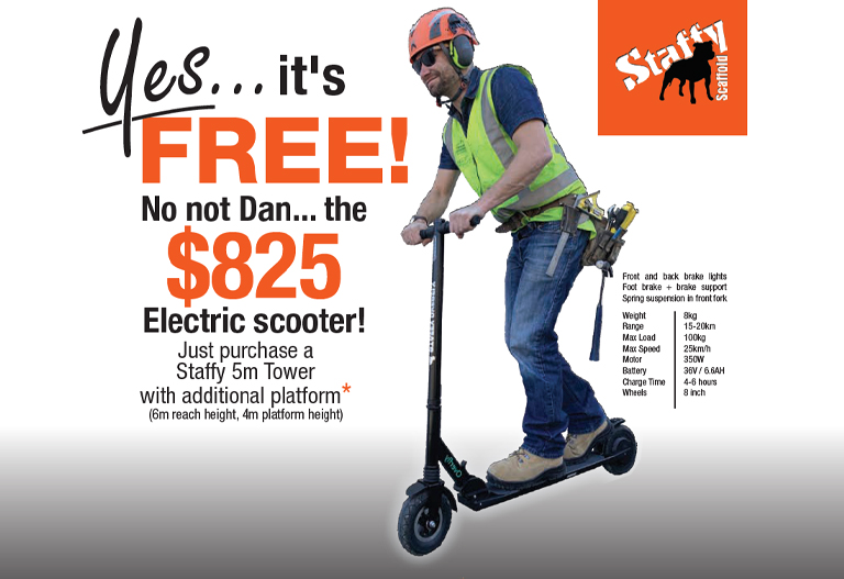 Grab a FREE Scooter with Staffy